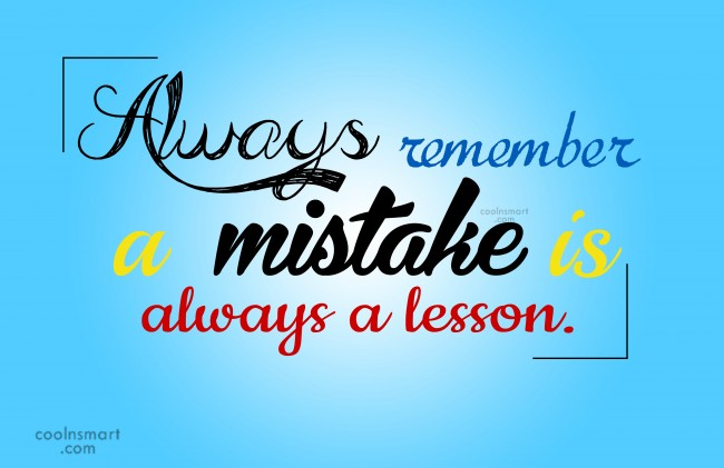mistake-is-lesson